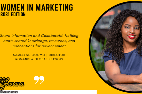 Samkelwe Gqomo, LinkedIn, Women In Marketing (Yellow)