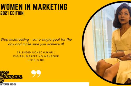 Splendid Uchechukwu, LinkedIn, Women In Marketing (Yellow)