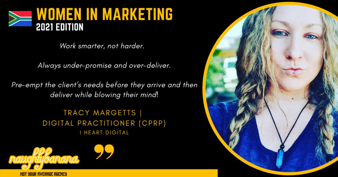 Tracy Margetts, LinkedIn, Women In Marketing (Black)