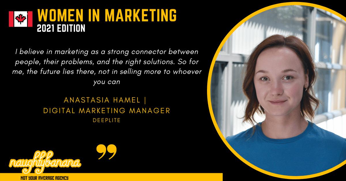 Anastasia Hamel, LinkedIn, Women In Marketing (Black)