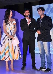 Actor & Anchor Karishma Kotak, Karan Wahi & Hiten Tejwani at the finale of 'ARF Mrs. India 2017' Beauty Pageant was held at Sahara Star, Mumbai