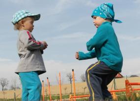 Zajęcia karate i najmłodszy trener