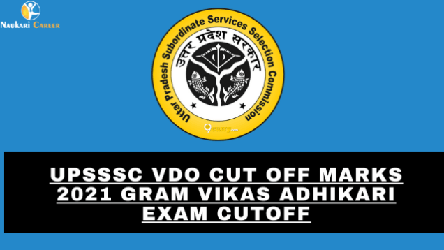 upsssc vdo cut off marks
