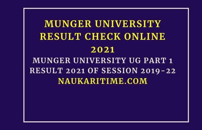 Munger University UG Part 1 Result 2021