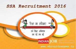 SSA Odisha Recruitment 2016