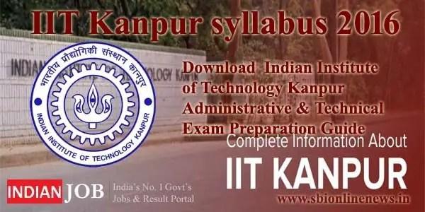 IIT Kanpur syllabus 2016