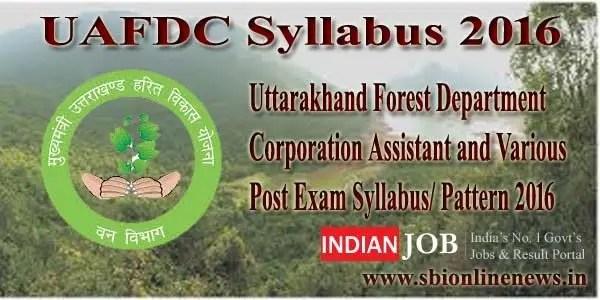 UAFDC Syllabus 2016