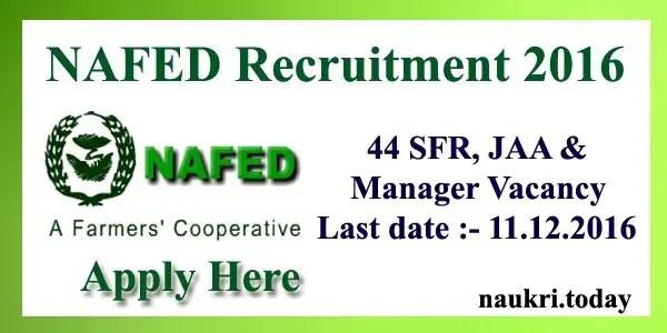 NAFED Recruitment 2016