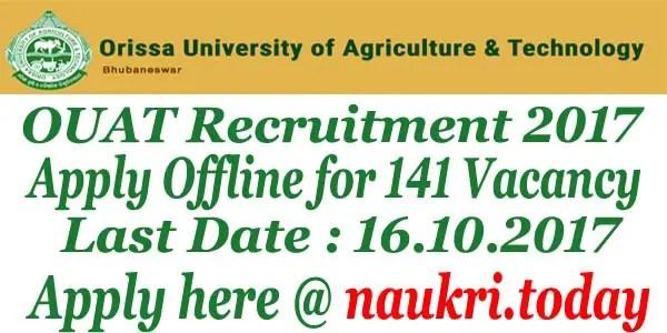 OUAT Recruitment 2017