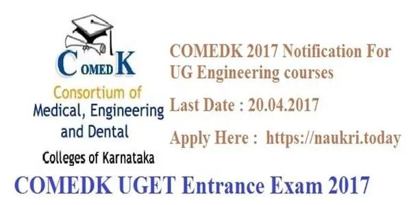 COMEDK UGET Entrance Exam 2017