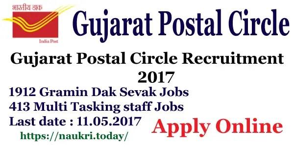 Gujarat Postal Circle Recruitment 2017