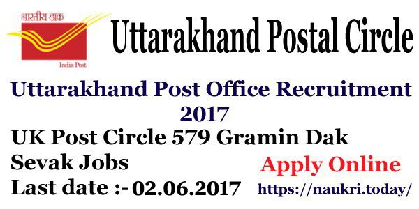 Uttarakhand Post Office Recruitment 2017