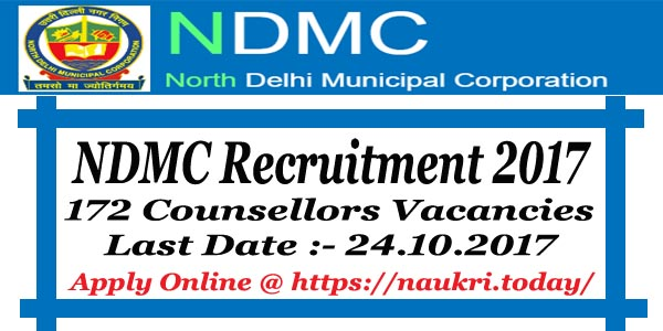 NDMC Recruitment 2017 – 18