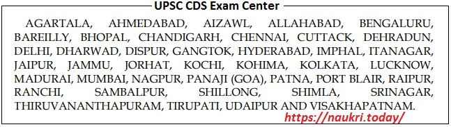 Center of Examination for Combined Defence Service (II) Exam