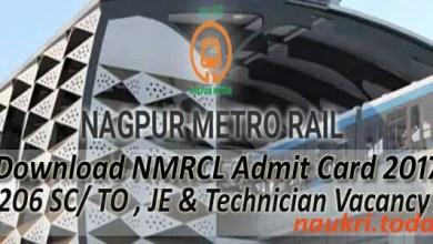 Nagpur Metro Admit Card