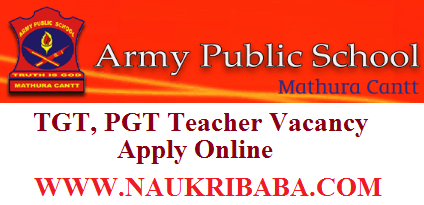 ARMY PUBLIC SCHOOL recruitment vacancy 2019