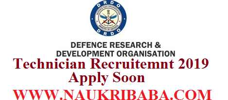 Technician DRDO-RECRUITMENT-VACANCY-2019