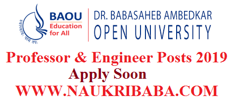 BAOU PROFESSOR ENGINEER RECRUTIMENT APPLY ONLINE FORM