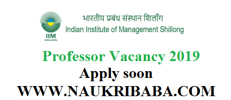 IIM SHILLONG recruitment vacancy 2019 apply soon