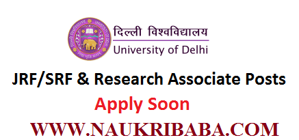 jrf srf research associate posts APPLY soon