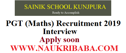 pgt maths RECRUITMENT 2019 POSTS walk-in