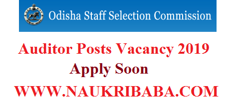 ODISHA AUDITOR RECRUITMENT VACANCY 2019