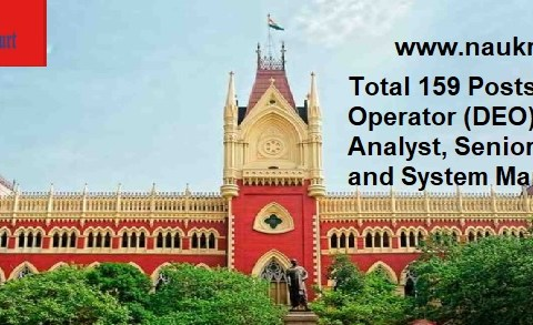 DEO, System Analyst, etc.. Vacancy in Calcutta High Court, Last Date- 27 January 2021.