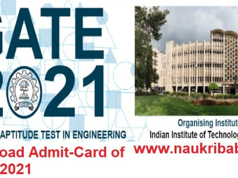 GATE-2021 Admit-Card & Exam Scheduled- Download