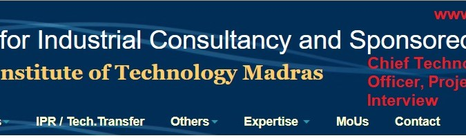 Apply- Chief Technology Officer, Sr Project Officer, Project Associate & JRF Vacancy in IIT Madras