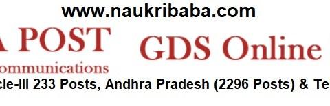 Apply for Andhra Pradesh-2296 Posts, Telangana 1150 Posts- India Post GDS