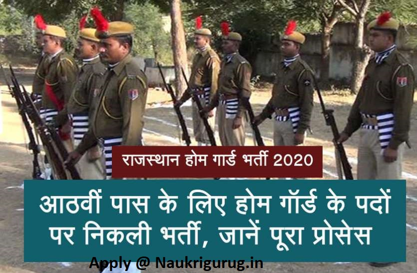 Rajasthan home guard vacancies 2020