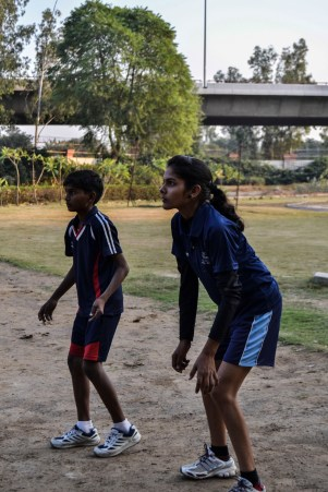 Sapna suffers from polio but her dream to play for volleyball national does not stop her from training.