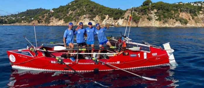 OceanCats, 214 km rowing