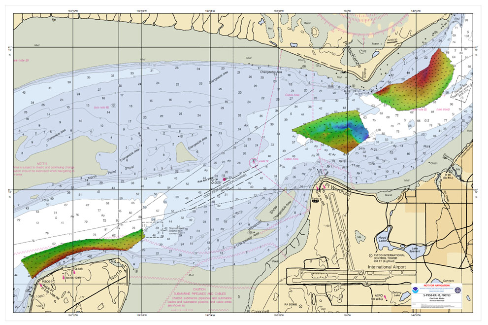 Multibeam data acquired by eTrac in Knik Arm, offshore of Anchorage.