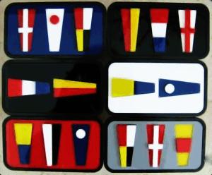 Custom nautical flag hitch plug