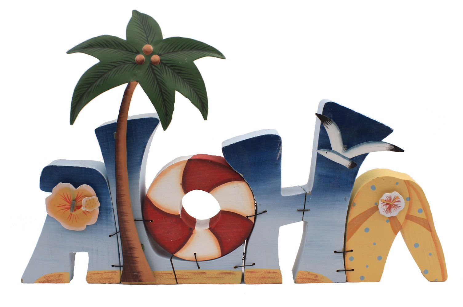 "15.5"" Standing Wooden Aloha Sign - 3D Letters - 1 Piece"