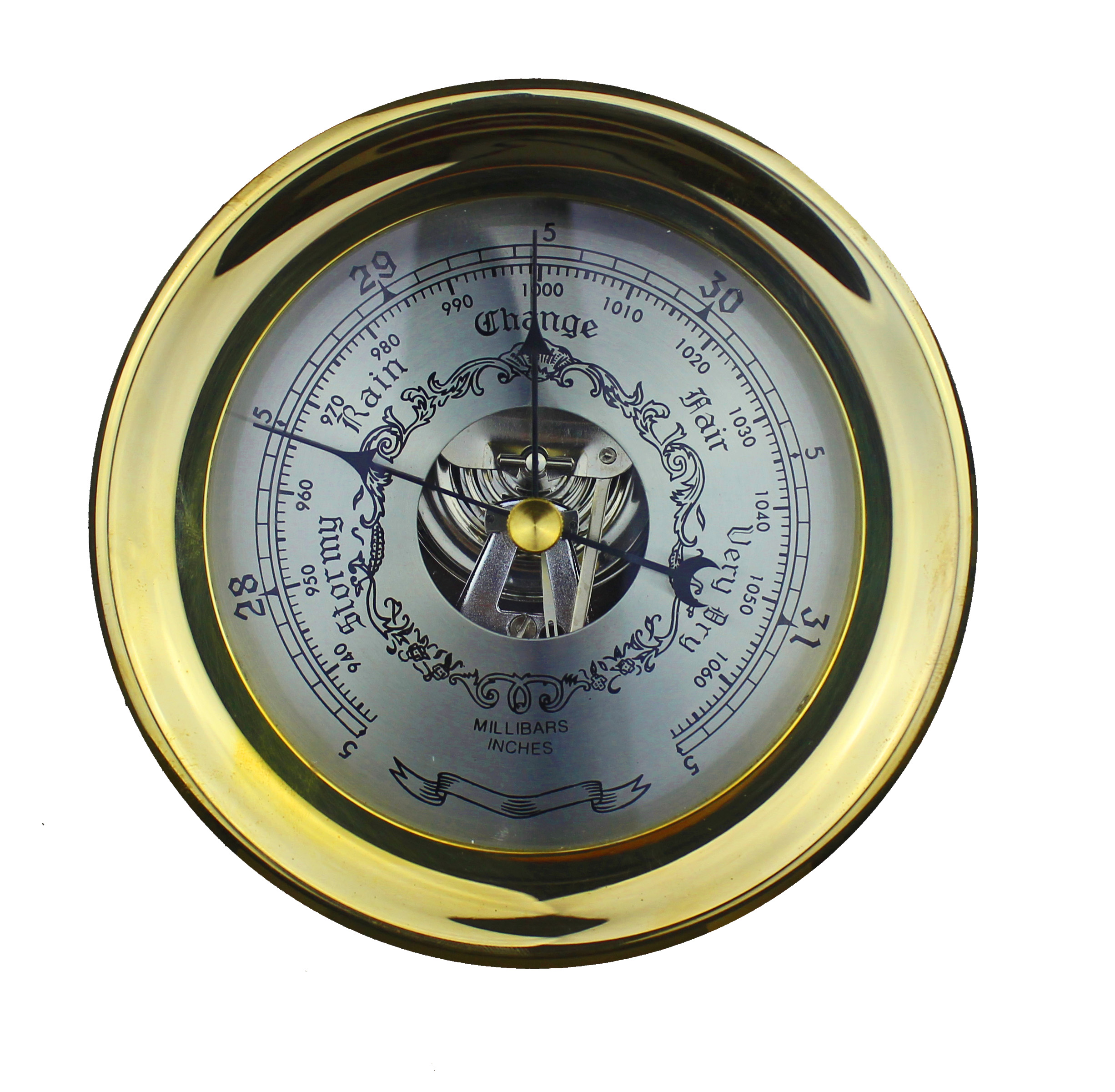 """6""""Dia Solid Brass Captain Wall Mount Barometer"""
