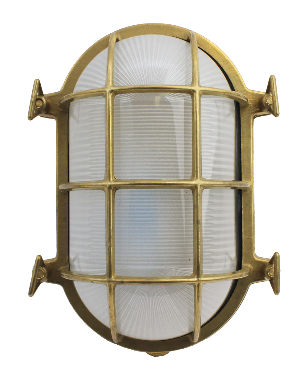 "10.5""H Solid Brass Grande Oval Bulkhead Light"
