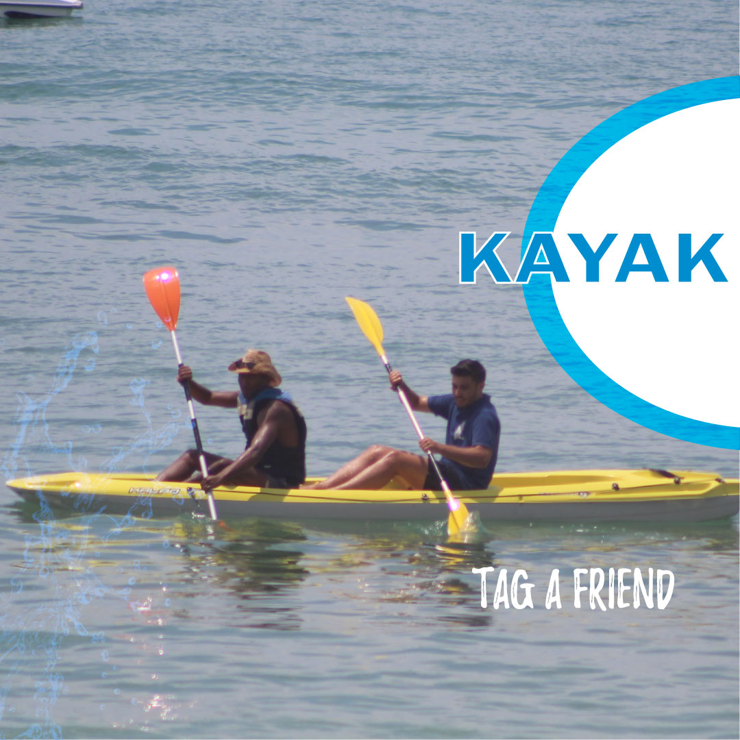 A vida é melhor com amigos e andar de kayak também! Traga um amigo! Life's better with friends and so is kayaking! Tag a friend! #nautifun #praiadagale #kayak #albufeira #algarve #desportosnauticos #watersports #summer #sea