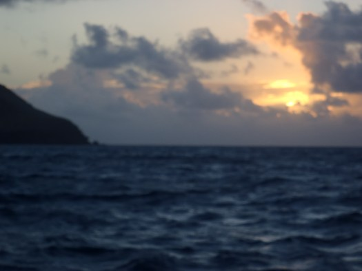 Leaving Antigua at Dawn