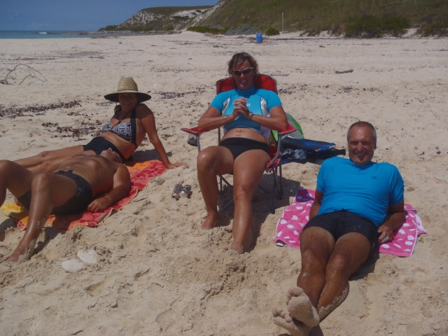 Chilling on Gibbs Cay with Friends
