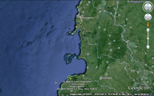 Colombia Google earth