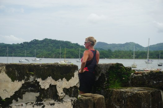 Looking over Portobelo Harbor from the fort