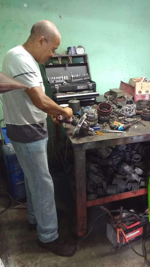 In Colon, we found an alternator repair shop