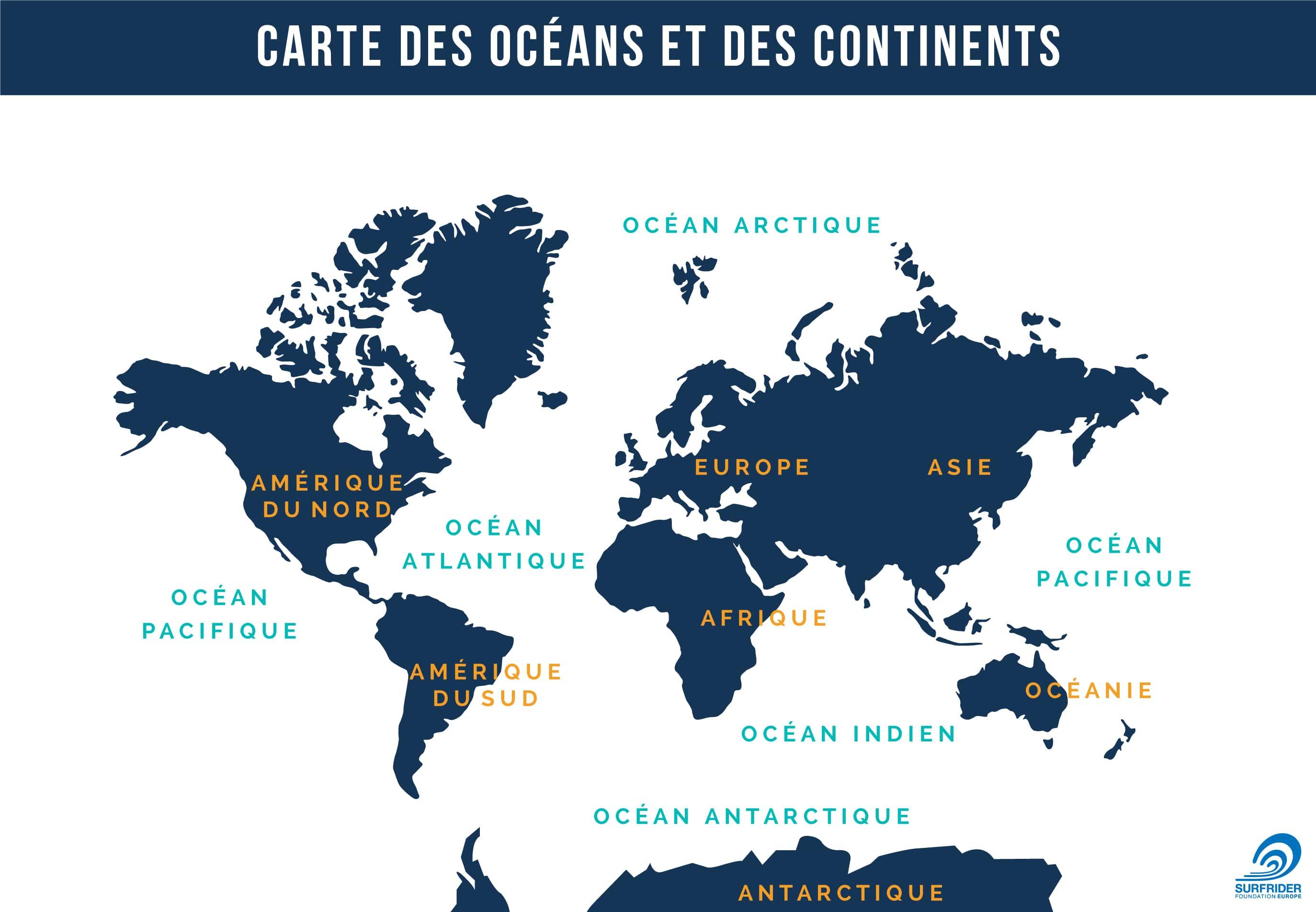 carte des oceans classique