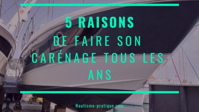 5 raisons de faire le carénage de son bateau