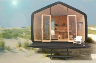 La casa eco-friendly  de cartón corrugado