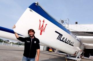 Giovanni Soldini, con su trimarán Maserati Multi70