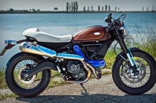 """Ducati Scrambler """"Aqua"""": el mito Riva  en dos ruedas"""