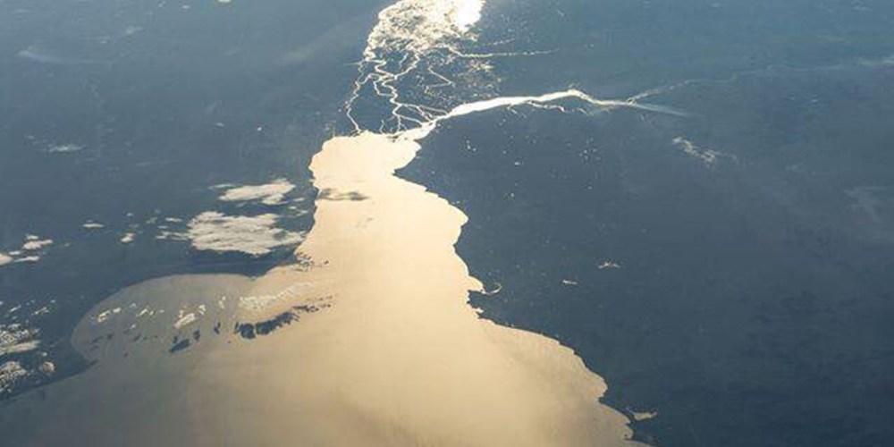 Fotos del Rio de la Plata desde la Estación Espacial Internacional